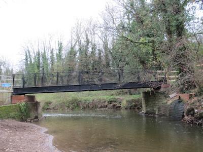 Mill meadow foot bridge Shropshire